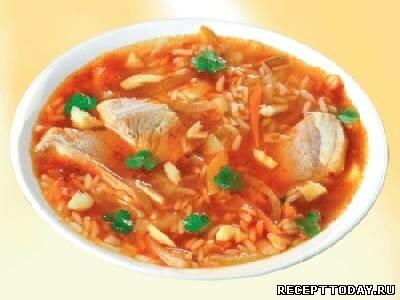Суп из говядины и риса