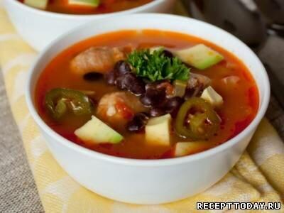 Острый суп с ягодами