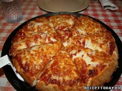 Пицца быстрая на сковородке
