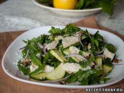Салат из цуккини с грецкими орехами