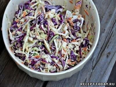 Капустный салат с укропом