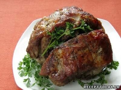 Запеченная свинина в рукаве