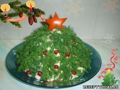 Салат Новогодняя ёлка