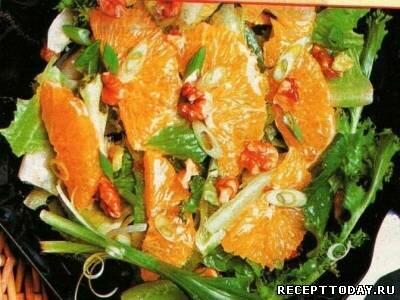 Cалат из овощей и фруктов