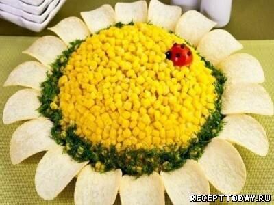Рецепт Салат с кукурузой и крабовыми палочками