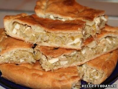 Рецепт Пироги с капустой и яйцом