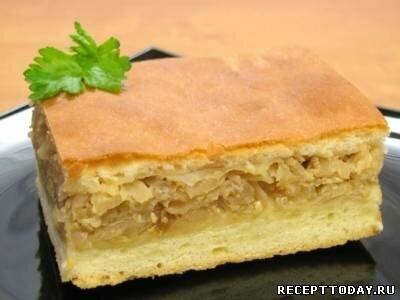 Рецепт Тесто на кефире для пирога с капустой