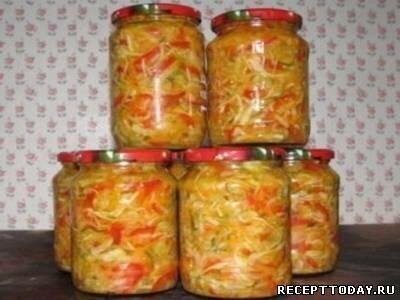 Салаты из овощей на зиму