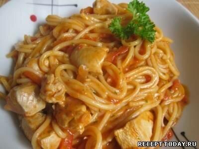 Рецепт Макароны с курицей