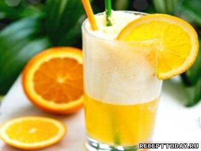 Рецепт Коктейль с ликёром и апельсином.