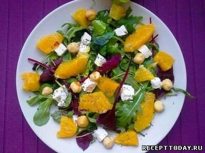 Салат с апельсинами и лесными орехами