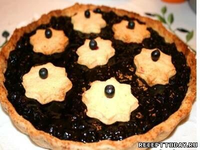 Пирог с черникой и сливками