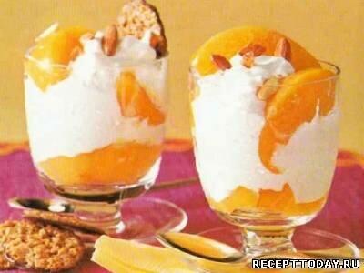 Грейпфрутовый мусс с персиками