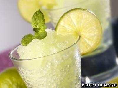 Яблочный сорбет с лимоном