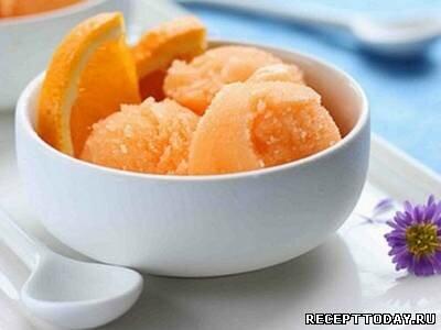 Сорбет из апельсина