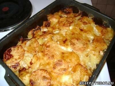 картошка с мясом в духовке рецепт с фото