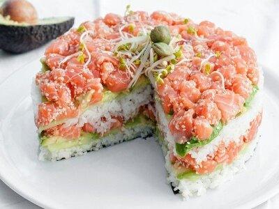 Суши-торт на Новый Год