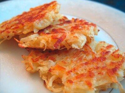 Постное картофельное пюре с луком и морковкой