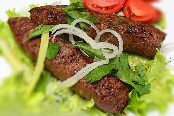 Люля-кебаб из говядины в духовке