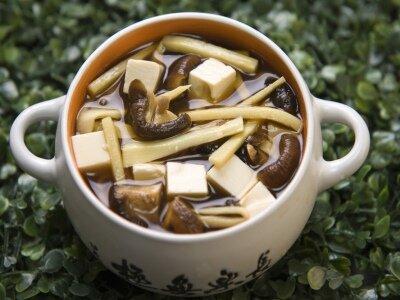 Тайский суп с тофу