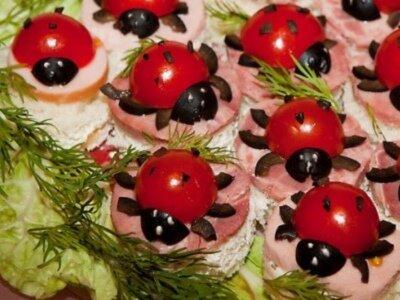 Бутерброды детские на день рождения