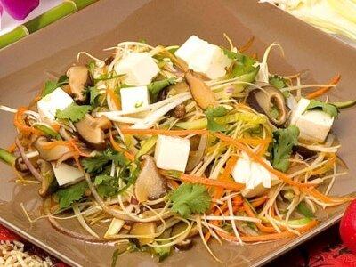 Тофу с грибами по-китайски