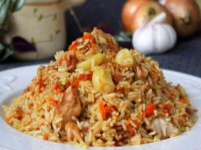 Плов из коричневого риса