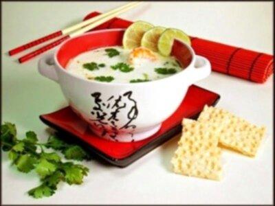 Кокосовый суп с креветками