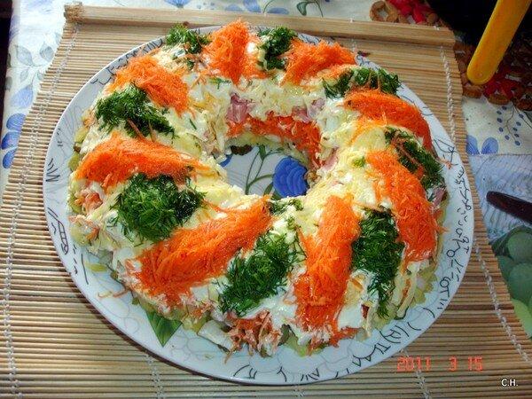 Салат Новогодний венок